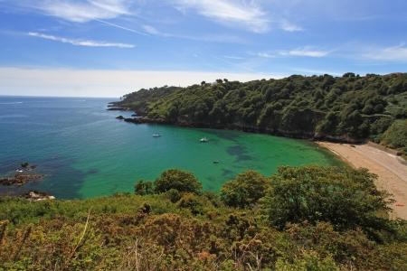 guernsey: Guernsey Beach Fermain Bay Channel Islands Stock Photo