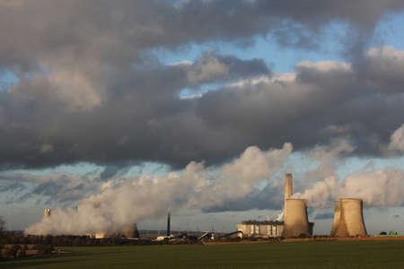 weston super mare: Weston Super Mare, England, power station producing pollution