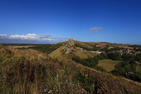 dorset: Corfe Castle Ruins in South England Dorset Europe