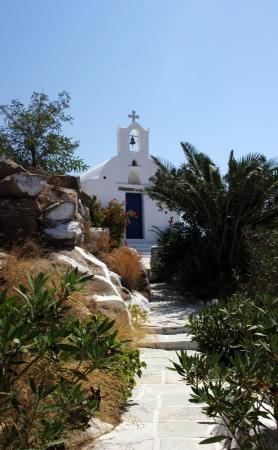 holiday destination: Ios church in Greece. Typical holiday destination