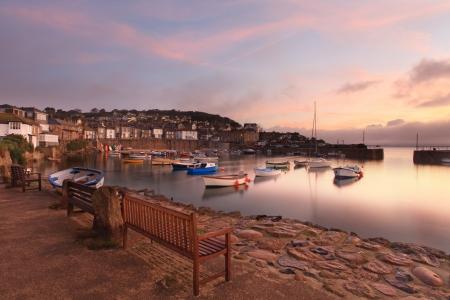 mousehole: Morning Sunrise at Mousehole Cornwall South West Coast UK