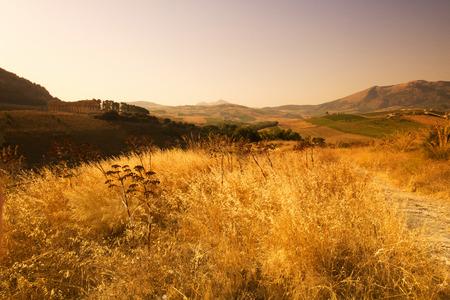 egesta: The Doric temple of Segesta in Northwestern Sicily Stock Photo