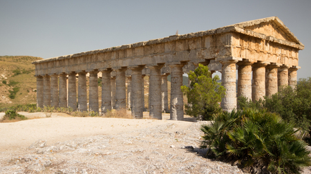 The Doric temple of Segesta in Northwestern Sicily photo