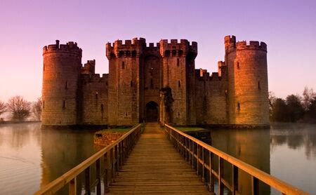 Bodiam Castle, East Sussex, England at sunrise