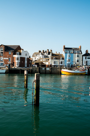 south west england: Weymouth quay and town harbour
