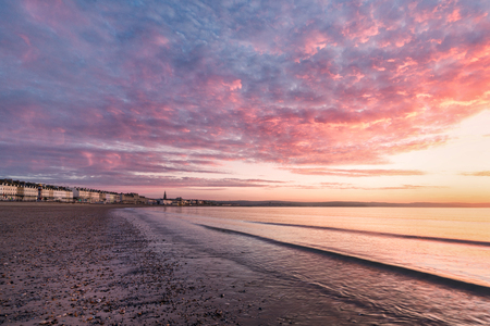 south west england: Spring sunrise taken from Weymouth beach Dorset