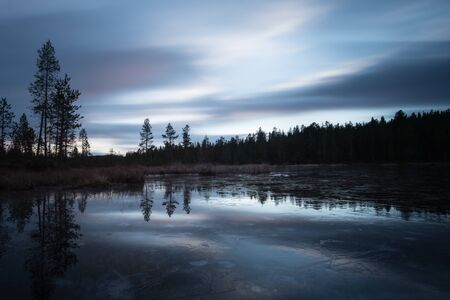 arctic circle finland river sunset stock photo picture and royalty
