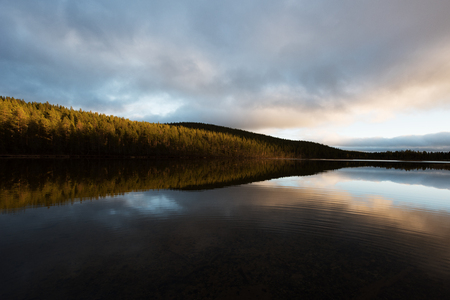 Arctic Circle Finland river sunset
