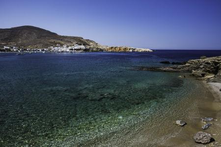 Greek Island Beach Cyclades Stock Photo