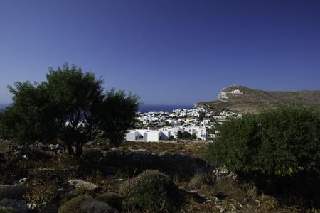 Greek Island Church Cyclades Stock Photo