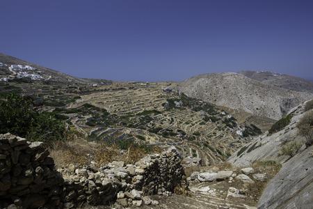 Greek Mountains Cyclades Island