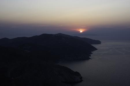 Greek Sunset Cyclades Stock Photo