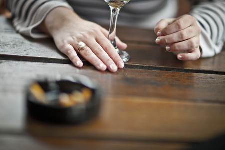 A wine at the pub. Stock Photo