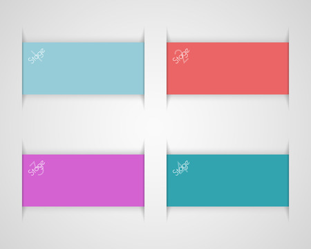Ribbon Text Box Set 1 Vector