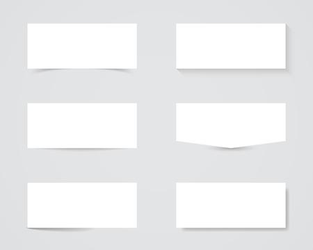 Blank Text Box Shadows Illustration