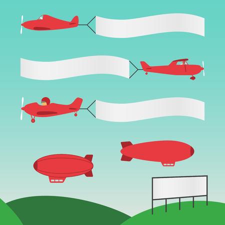 飛行機バナー