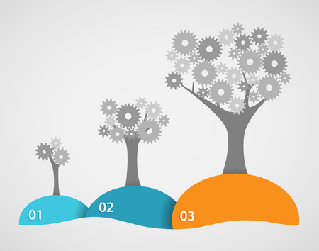 text 3d: Cog Tree Growth