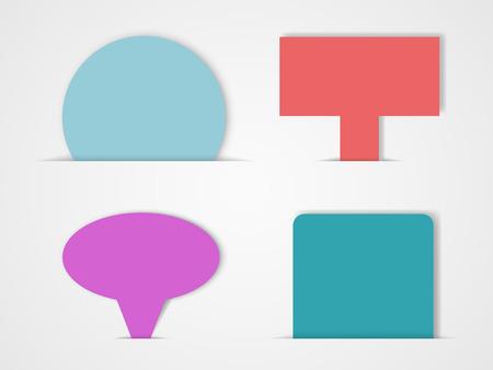 Ribbon Text Box Set 3 Vectores