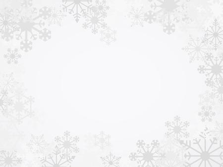 Vector Winter Snowflake Background Stock Illustratie