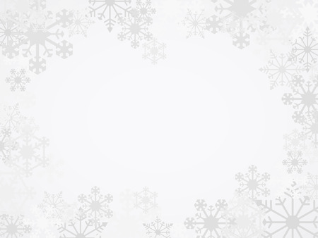 simple border: Vector Winter Snowflake Background Illustration