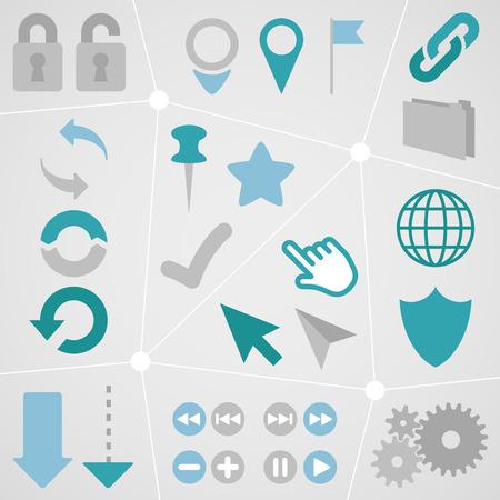 Web Icon Info Graphic Set 1 Vector