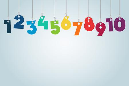Hanging Numbers Vector