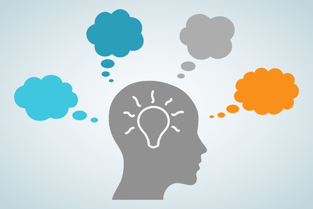 Head Light Bulb Idea Illustration