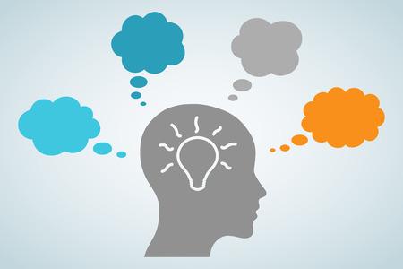 Head Light Bulb Idea Stock Illustratie