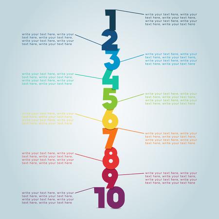 numero diez: Pasos numerados 4 Vectores