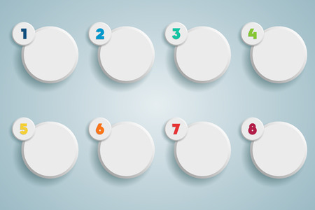 Infographic 3D Numbered Step Bubbles 1  イラスト・ベクター素材