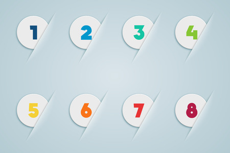 Infographic 3D Numbered Step Bubbles 3