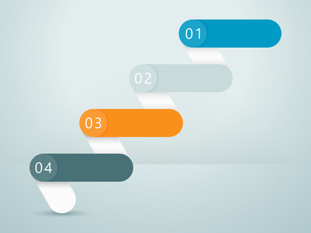 Number Steps 3d Infographic 1 to 4 C