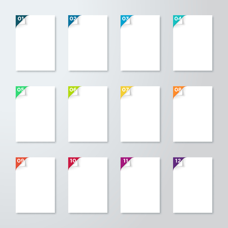 White Pages With Numbered Steps 1 to 12 Corner Pealed Back