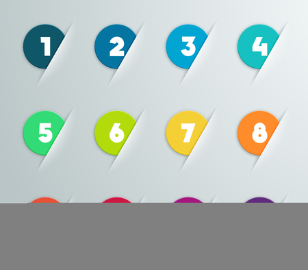 Infographic 3D Numbered Step Bubbles 5