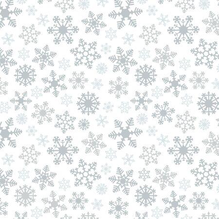 スノーフレーク単純なベクトル シームレス パターン 2 シルバー 写真素材 - 70841845