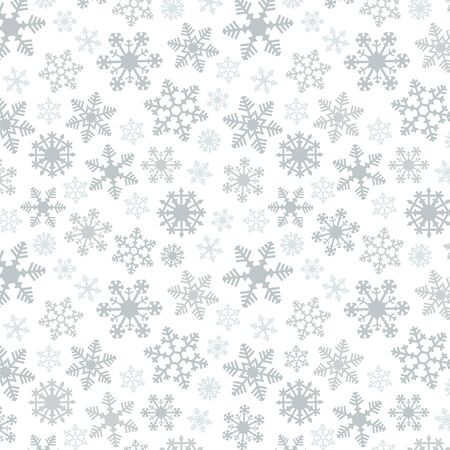Snowflake Simple Vector Seamless Pattern 2 Silver