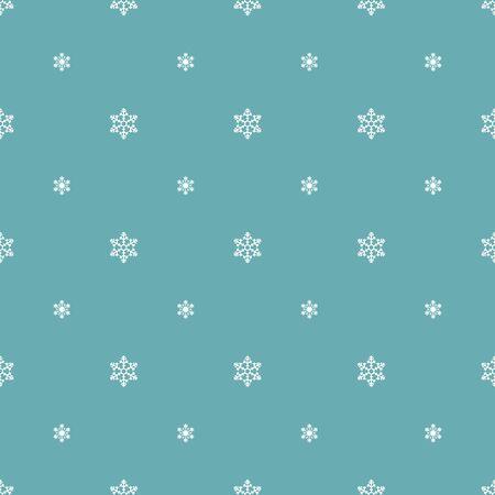 Snowflake Simple Vector Seamless Pattern 1 Vintage Blue