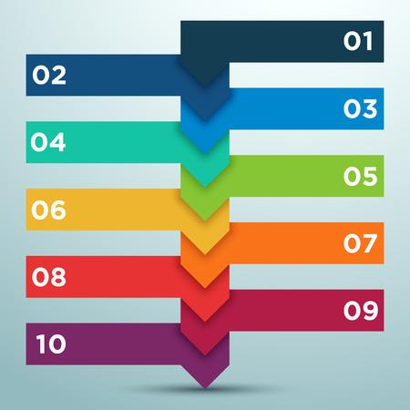 opciones de negocios infografía como una escalera 1