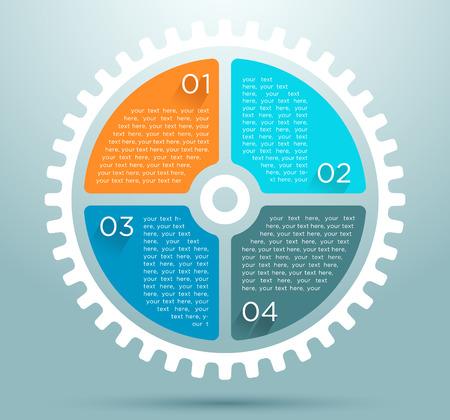 Cifra piatta infografica con design di numeri