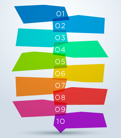 Abstract Colourful Shapes With Numbers 1 to 10