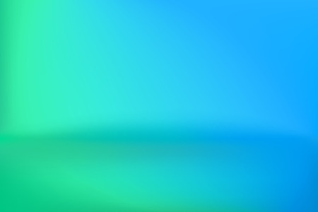 Background Studio Horizon Green Blue Vector Illustration