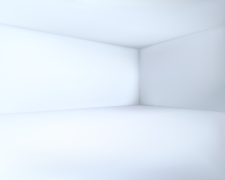 Empty Cool White Room Corner Vector