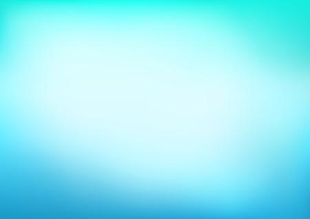 Abstract Blue Turquoise Blurred Vector Background Ilustração
