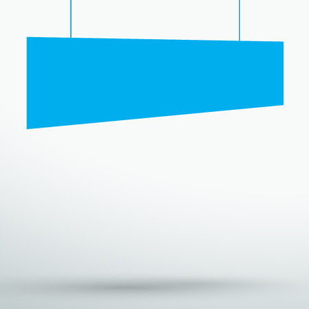 Infographic 1 Blue Title Boxes Hanging 3d Vector