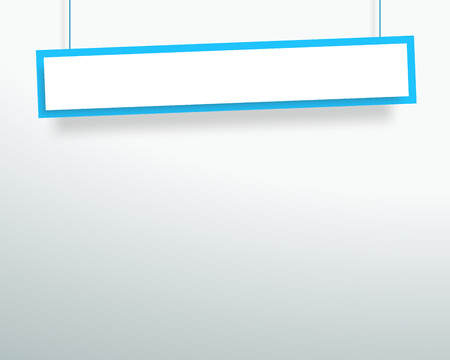 Vector 3d Blank Blue 1 Line Wonky Hanging Banner