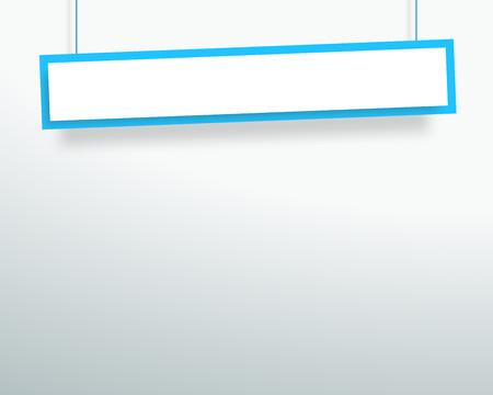 Vektor 3d leer blau 1 Zeile wackelig hängende Banner Vektorgrafik