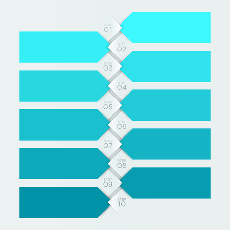 Infographic Blue Banner Numbered Steps 1 to 10