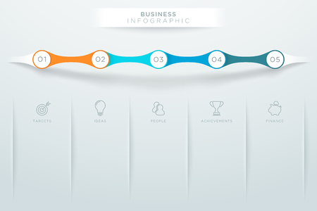 Steps 1 to 5 With Space For Text Colorful Infographic B Illustration