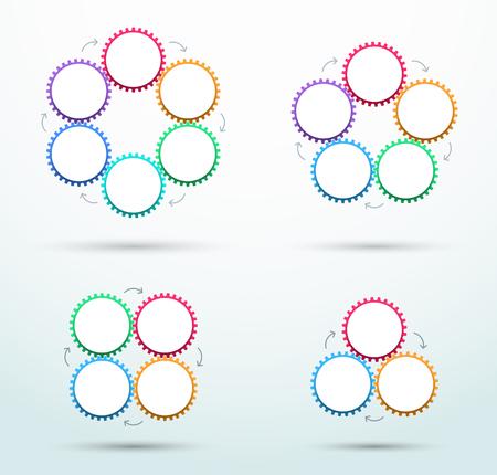 infografía negocio metáfora pentágono cog velocímetro b