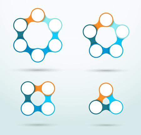 Juego de plantillas Infographic Connected Circles